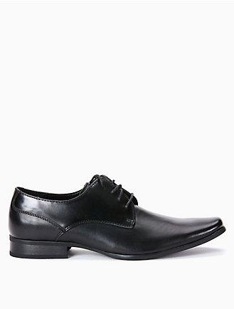 Cash Nylon/Patent, Mens Ankle Boots Calvin Klein