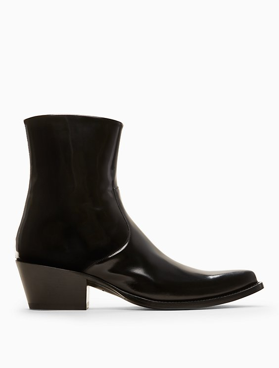 Calvin Klein Collection Leather Wedge Boots cheap cheap online discount cheap online vzH8m