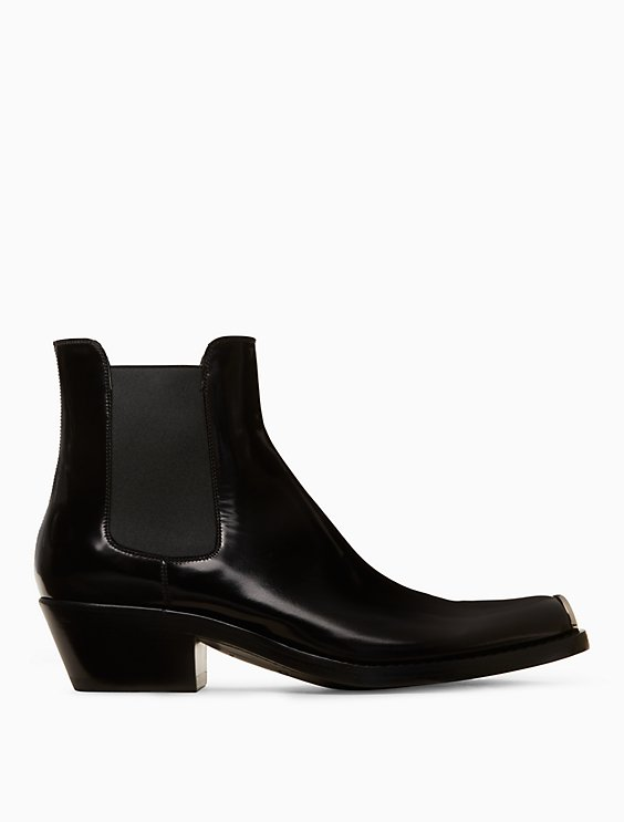 ad02e0fdbff chelsea boot in calf leather with 205 silver toe plate