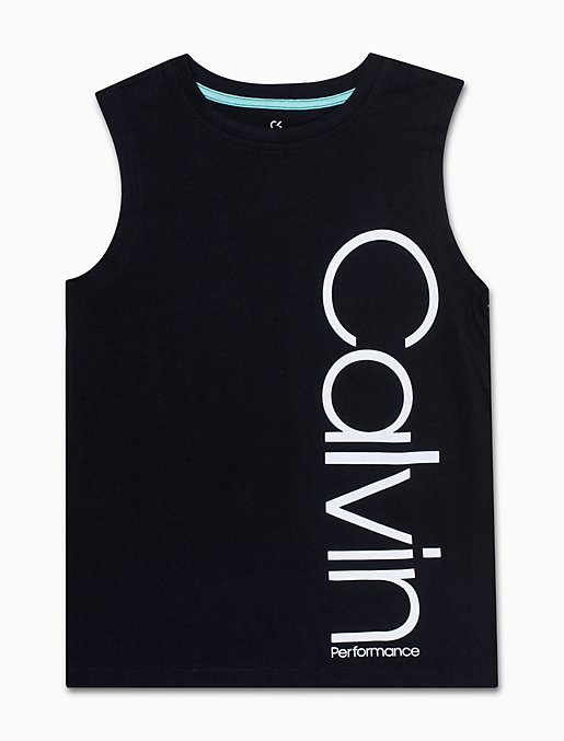 d17d9563a70935 girls performance logo tank top | Calvin Klein
