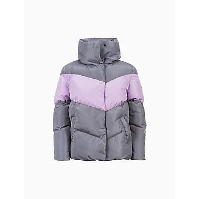 Girls Colorblock Chevron Puffer Jacket