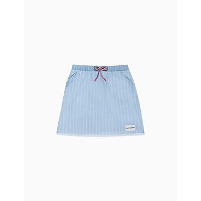Girls Stripe Chambray Pull-On Skirt