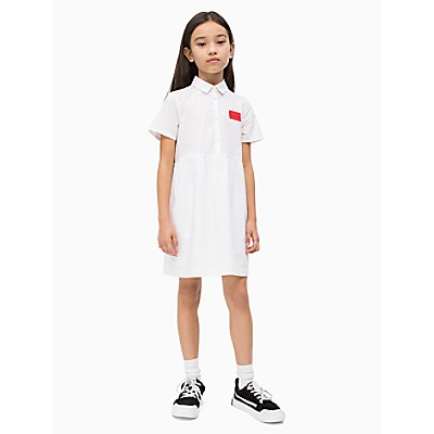 Girls Poplin Shirt Dress