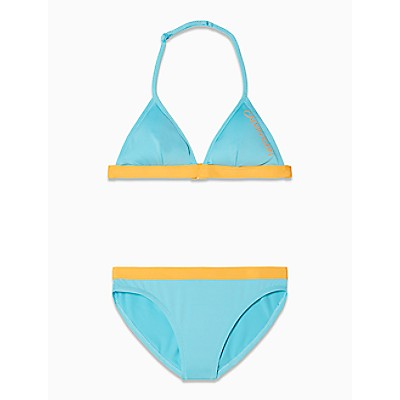 Girls Core Placed Logo Triangle Swimsuit Set