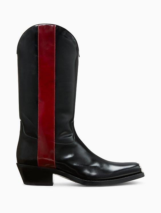 Calvin Klein Leather Cowboy Boots QI7iQp