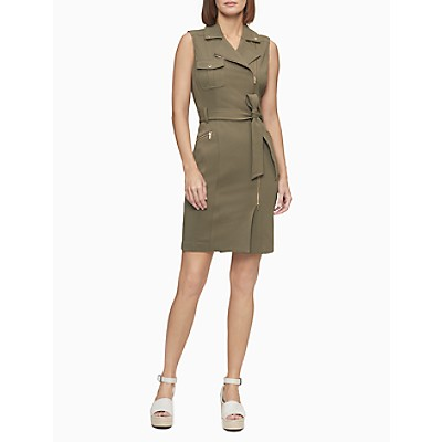 Moto Zip Sheath Dress