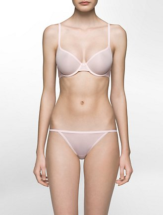 06fbcf7497 sheer marquisette lightly lined bra + thong