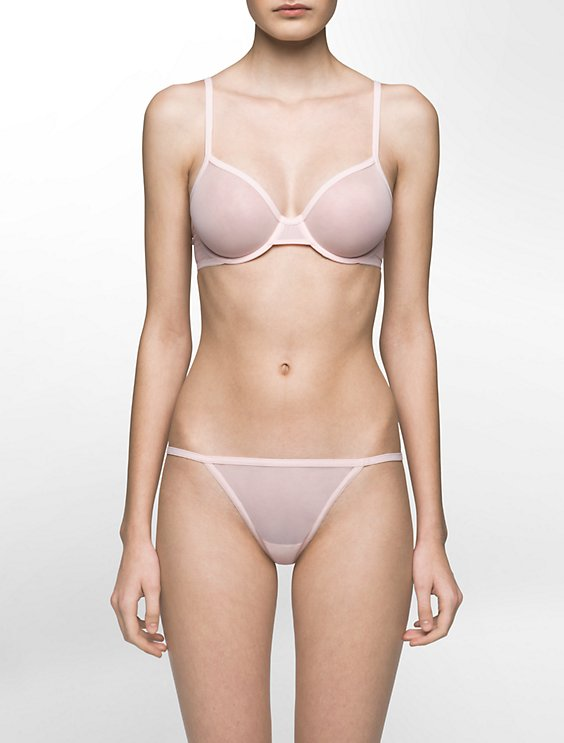 ed8d7ade2a Image for sheer marquisette unlined bra + thong from Calvin Klein