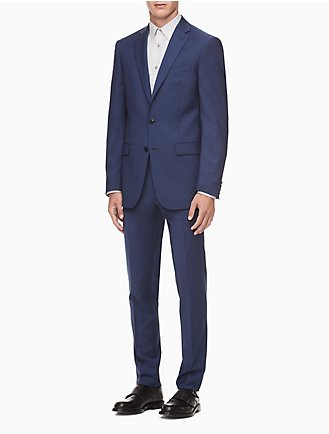 28d5827b70a9 Final Sale. Skinny Fit Blue Suit Jacket + Suit Pants