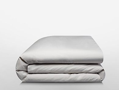 Image for tailored band percale bedding collection in stone from Calvin Klein