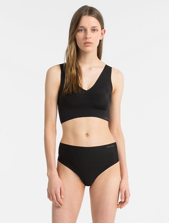 96cf88e6f2 Image for invisibles lightly lined v-neck bralette + high waist thong from Calvin  Klein