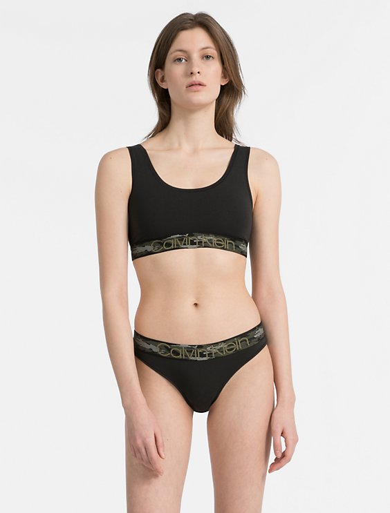 e1ffbcf190ed57 Image for modern cotton unlined bralette + bikini from Calvin Klein