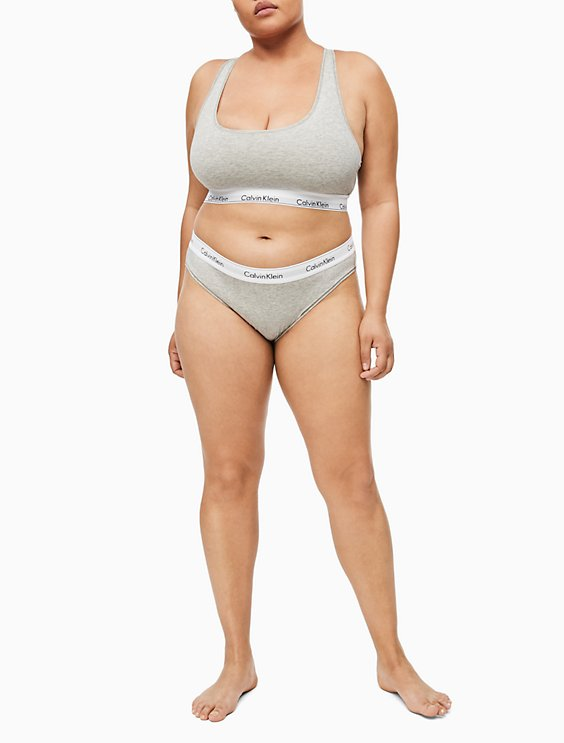 fdccd9567 Image for modern cotton plus unlined bralette + bikini from Calvin Klein