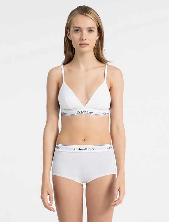 d97ad6530 Image for modern cotton triangle bralette + short from Calvin Klein