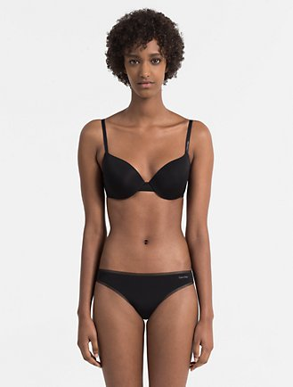 4fed392095 sculpted plunge push up bra + thong
