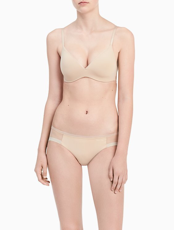 be51374e75d83 Image for sculpted lightly lined wirefree bra + bikini from Calvin Klein